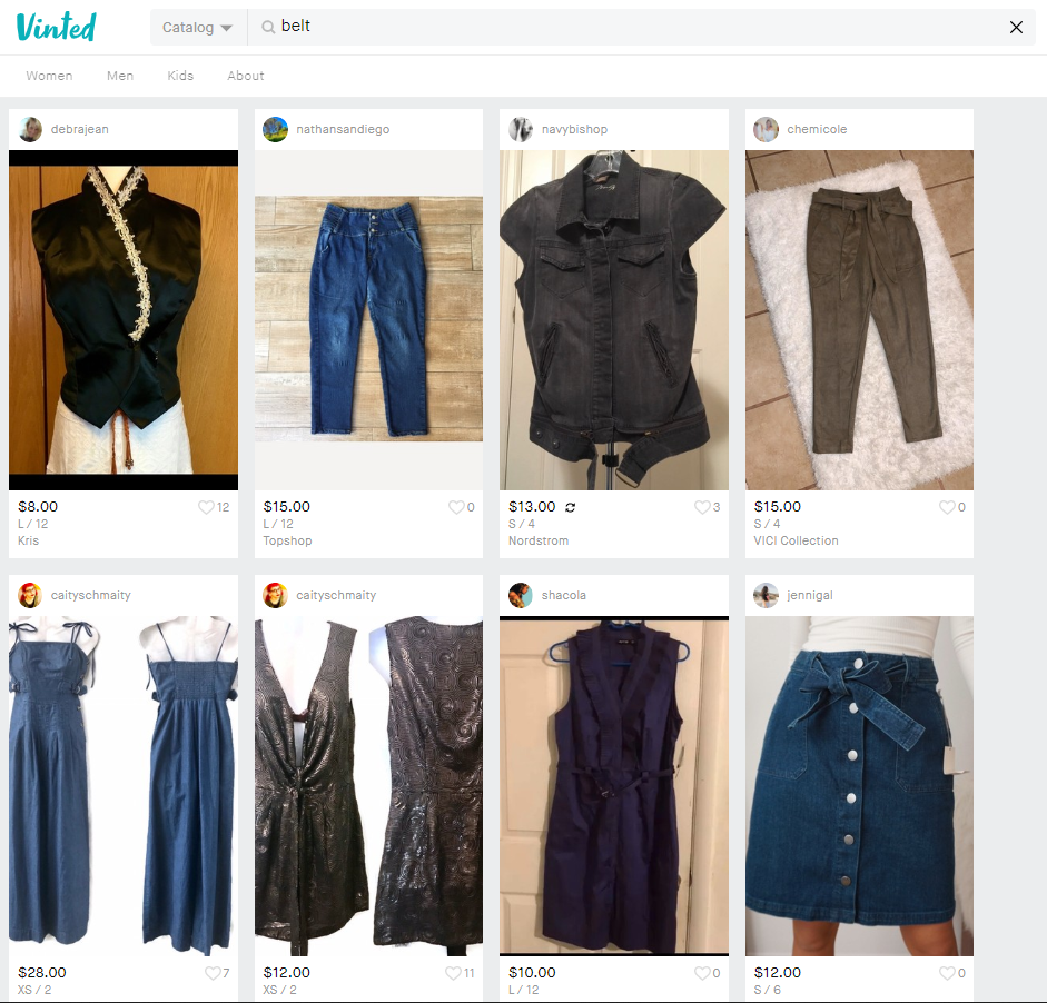 "Searching for ""belt"" returns irrelevant results, such as clothes with belt."