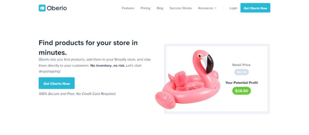 Best eCommerce tools: 16.Oberlo