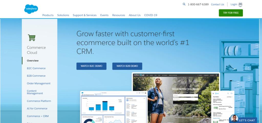 Best ecommerce tools: 1.Salesforce Commerce Cloud